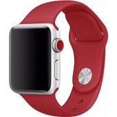 Apple Watch 38mm Siliconen Horlogeband Sport Rood