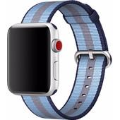 Apple Watch 42mm Nylon Woven Horlogeband Blauw