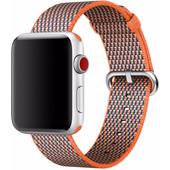 Apple Watch 42mm Nylon Woven Check Horlogeband Oranje