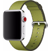 Apple Watch 42mm Nylon Woven Check Horlogeband Groen