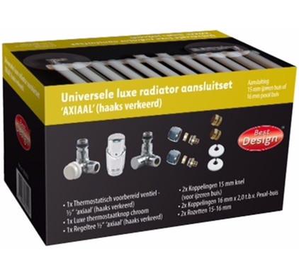 Best Design Universele Luxe Radiatoraansluitset Axiaal