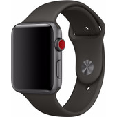 Apple Watch 42mm Siliconen Horlogeband Sport Grijs