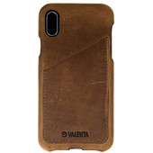 Valenta Classic Luxe Vintage Apple iPhone X Back Cover Bruin