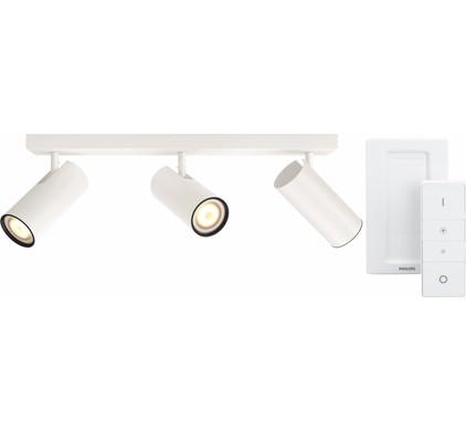 Philips Hue Buratto 3-Spot Wit met Dimmer