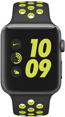 Apple Watch Nike+ 42mm Spacegrijs Aluminium/Zwart Volt Sportband
