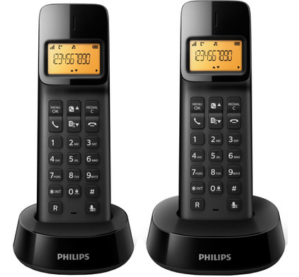 Philips D1402B/22 Zwart