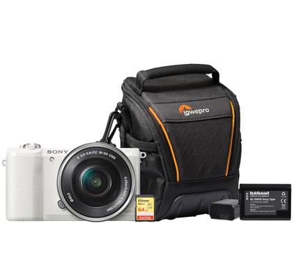 Starterskit - Sony Alpha A5100 Wit + 16-50mm