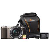 Starterskit - Sony Alpha A5100 Bruin + 16-50mm