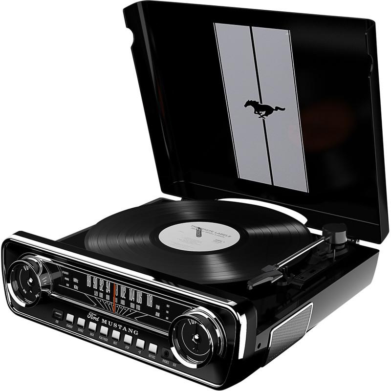 ION Audio Mustang Retro LP-speler Zwart