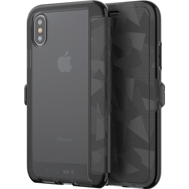 Tech21 Evo Wallet Apple iPhone X Book Case Zwart