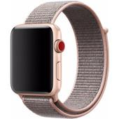 Apple Watch 42mm Nylon Sport Loop Horlogeband Rose Gold