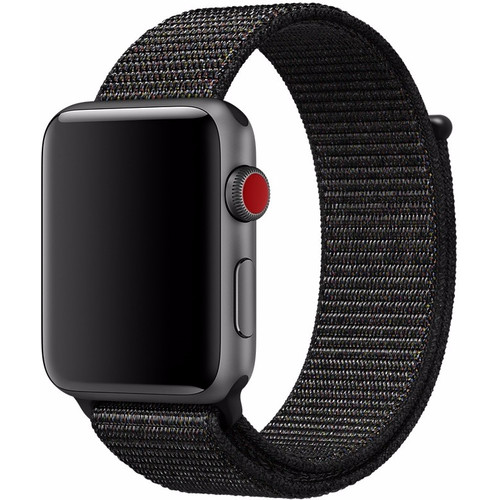 Apple Watch 42mm Nylon Sport Loop Horlogeband Zwart