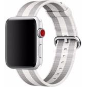 Apple Watch 42mm Nylon Woven Horlogeband Wit
