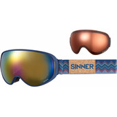 Sinner Nauders Matte Blue + Red Mirror & Sintec Polarized Lenzen