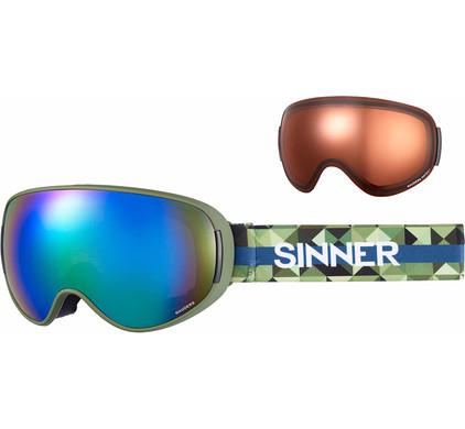 Sinner Nauders Matte Green + Green Mirror & Sintec Polarized Lenzen