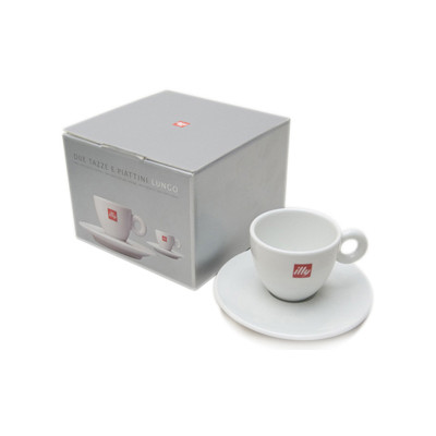 Image of Illy Lungo Kop in Giftbox 40 cl (2 stuks)