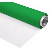 Bresser Vinyl Groen/Wit Mat 2x6m Rol Achtergrond