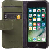 Decoded Leather Wallet Apple iPhone 5/5S/SE Book Case Groen