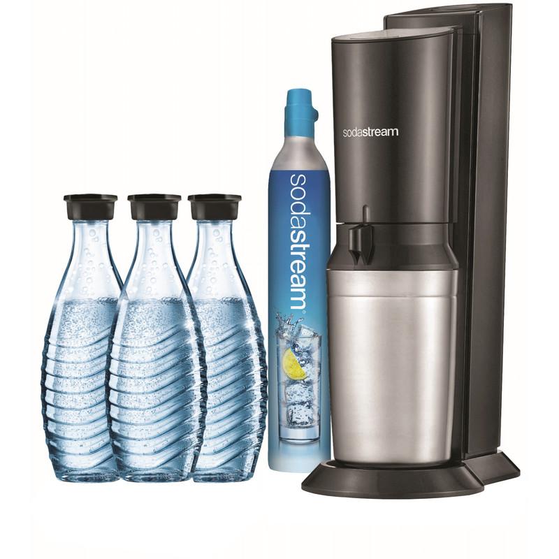 Dagaanbieding: SodaStream Crystal Zwart + 3 karaffen