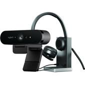 Logitech Brio 4K Webcam + Logitech H820e Office Headset