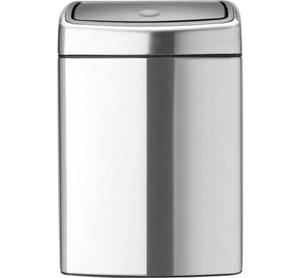 Brabantia Touch Bin Rechthoekig 10 Liter Matt Steel Fingerprint Proof
