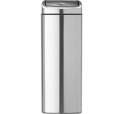 Brabantia Touch Bin Vierkant 25 Liter Matt Steel Fingerprint Proof