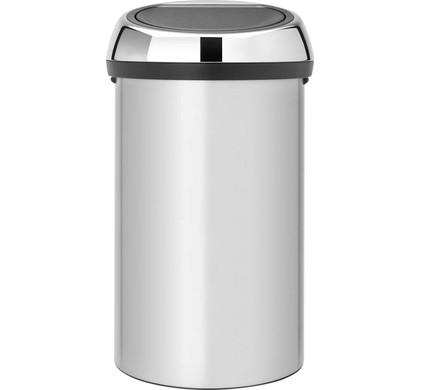 Brabantia Touch Bin 60 Liter Metallic Grey