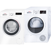 Bosch WAN28242NL + Bosch WTG86400NL