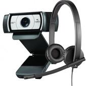 Logitech HD Webcam C930e + USB Headset H570e Stereo
