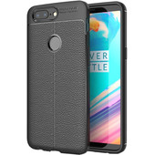 Just in Case Soft Design TPU OnePlus 5T Back Cover Zwart