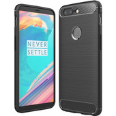 Just in Case Rugged TPU OnePlus 5T Back Cover Zwart