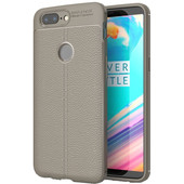 Just in Case Soft Design TPU OnePlus 5T Back Cover Grijs