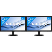 Philips 240V5QDAB Duo set-up