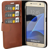 Valenta Booklet Classic Luxe Samsung Galaxy S7 Bruin