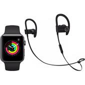 Apple Watch Series 3 42mm Zwart + Beats PowerBeats 3