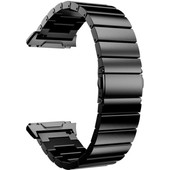 Just in Case Fitbit Ionic RVS Horlogeband Zwart
