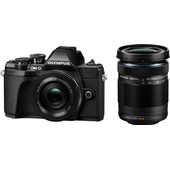 Olympus OM-D E-M10 Mark III Body Zwart + 14-42mm EZ Zwart + 40-150mm Zwart