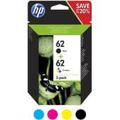 HP 62 Cartridge Combo 2 Pack 4 Kleuren (N9J71AE)