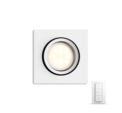 philips hue milliskin vierkant wit inclusief dim switch coolblue. Black Bedroom Furniture Sets. Home Design Ideas