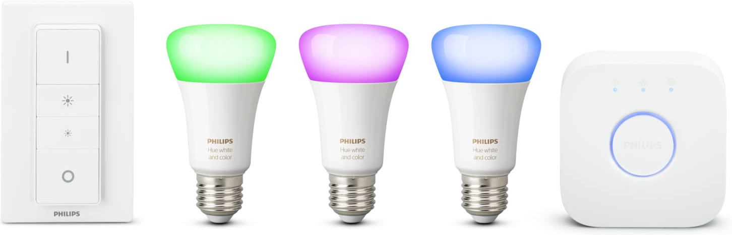 philips lampen kopen philips hue starterset white. Black Bedroom Furniture Sets. Home Design Ideas
