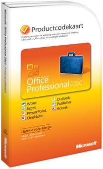 Microsoft Office Professional 2010 NL Product Key Card