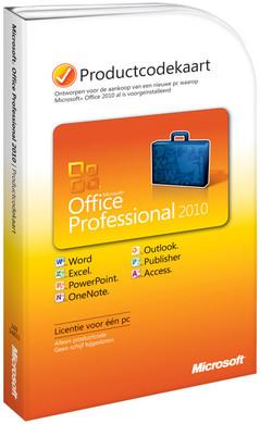 Microsoft Office Professional 2010 NL Product Key Card