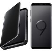 Samsung Galaxy S9 Zwart + Clear Stand View Cover Zwart