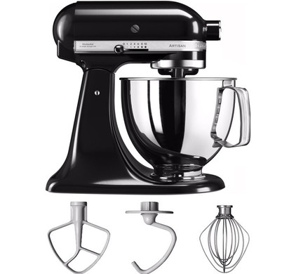 kitchenaid artisan mixer 5ksm125 onyx zwart coolblue alles voor een glimlach. Black Bedroom Furniture Sets. Home Design Ideas