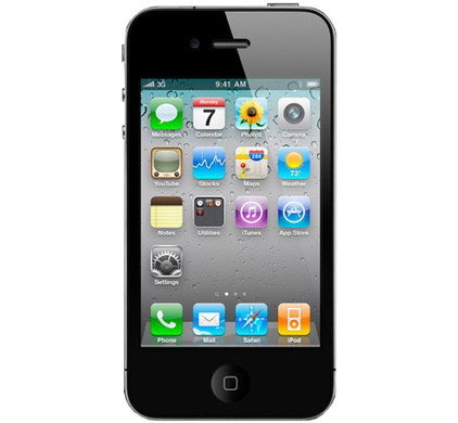 Apple iPhone 4 8 GB Black + Case + Screenprotector
