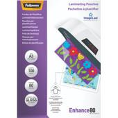 Fellowes Lamineerhoezen Enhance 80 mic A3 (100 stuks)