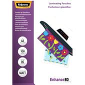 Fellowes Lamineerhoezen Enhance Mat 80 mic A3 (100 Stuks)