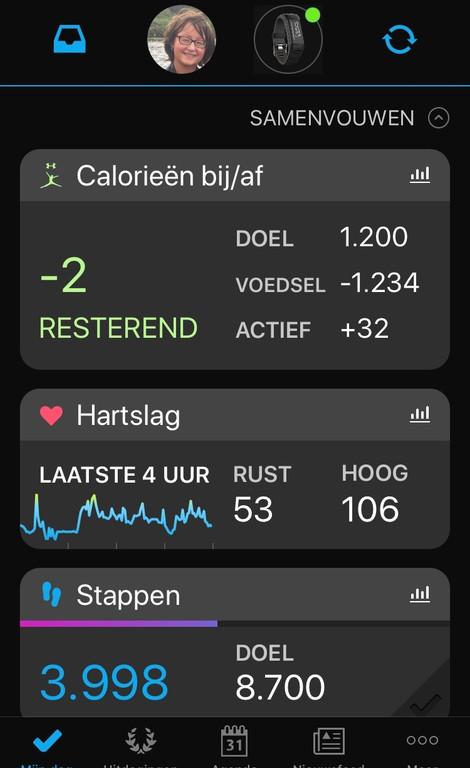 Reviews Over Garmin Vivosmart Hr Blauw Coolblue Alles Voor