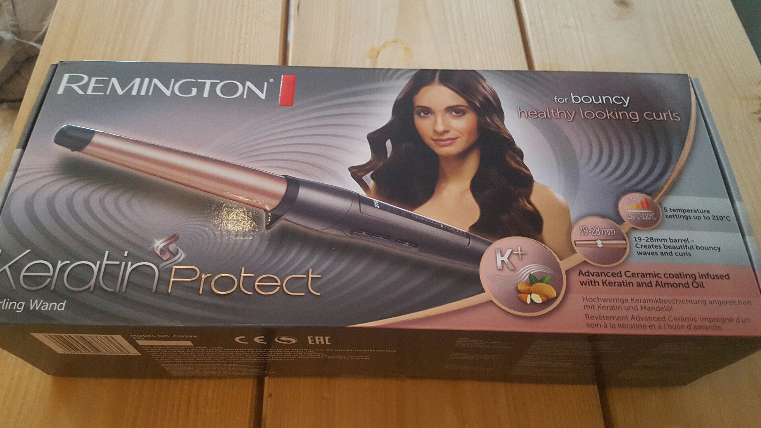 Remington CI83V6 Keratin Protect 19-28 mm Wand