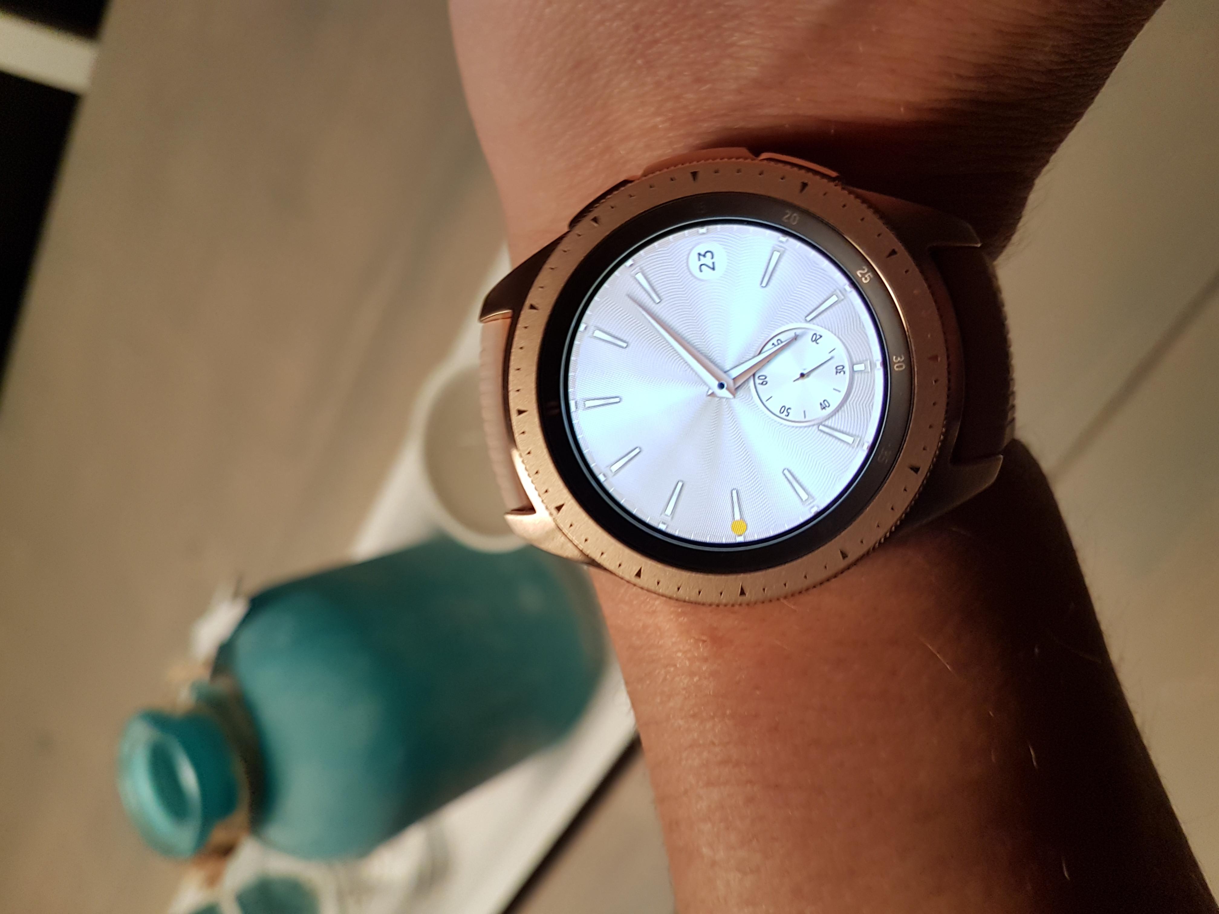 Samsung Galaxy Watch 42mm/Gear Sport Siliconen Horlogeband Rood